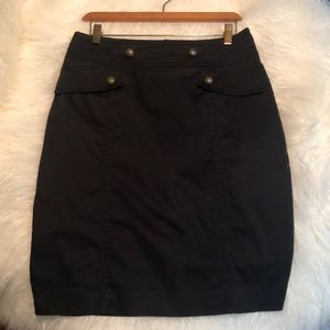 Black Military-Style Skirt